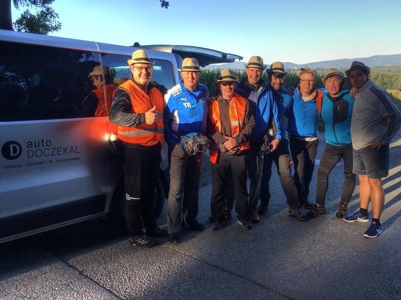 Der Weg der Wallfahrer! Alfred Szabo mit seiner Pilgergruppe in Richtung Mariazell!