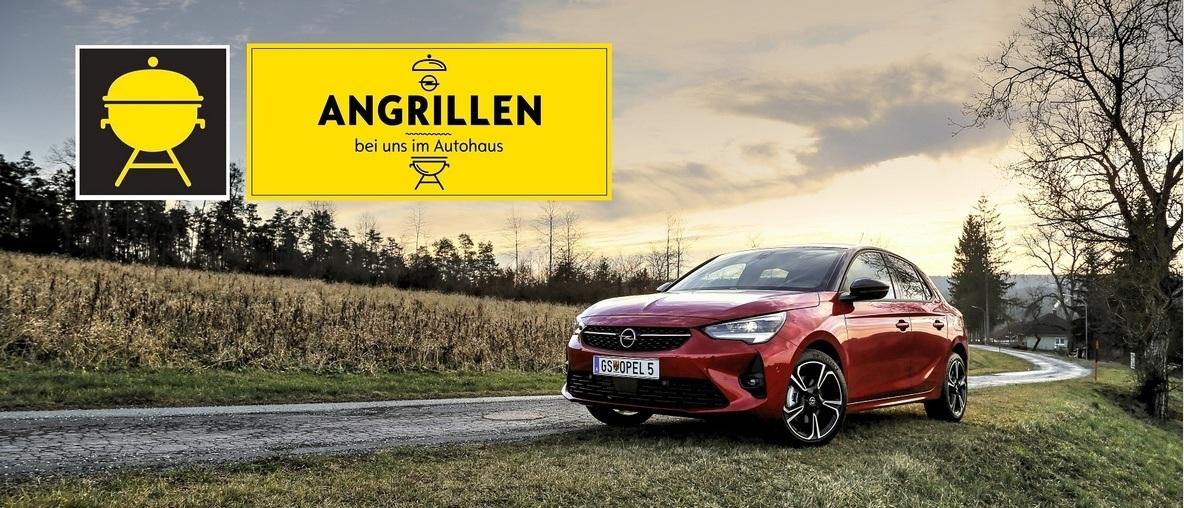 Das große Opel Angrillen mit Kotelett und dem Neuen Opel Corsa