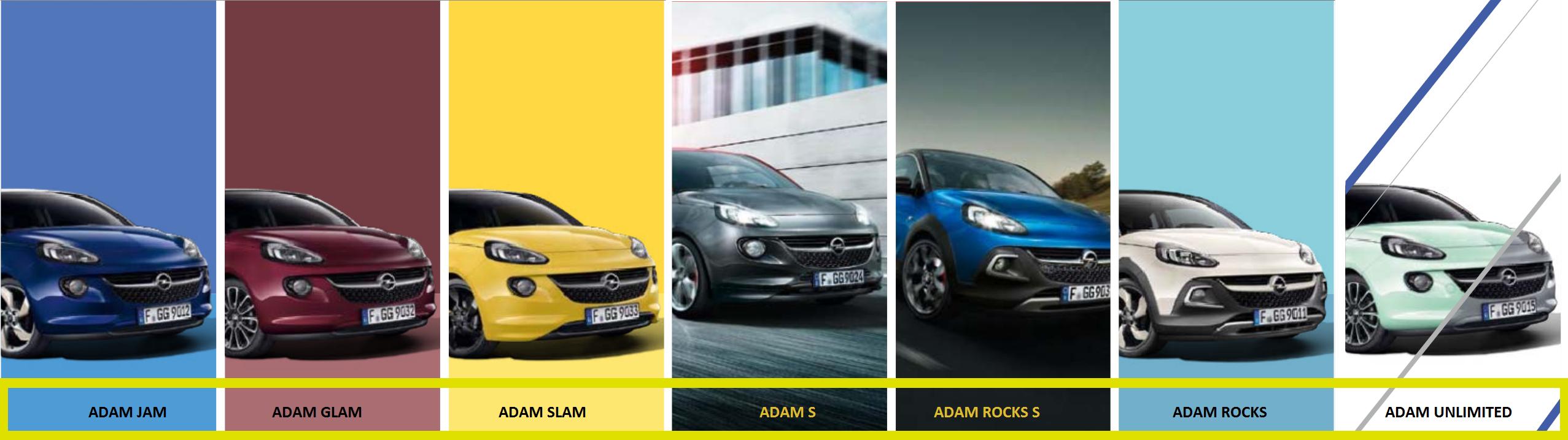 Die Opel Adam Modelle bei Autohaus Riedigerr in Wien